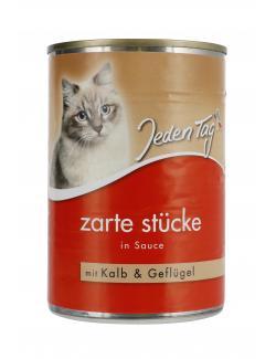 Jeden Tag Zarte Stücke in Sauce Kalb & Geflügel (415 g) - 4306180182687