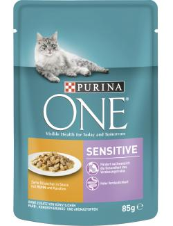 Purina One Sensitive Huhn & Karotten (85 g) - 7613034452634