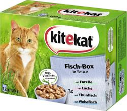 Kitekat Fisch-Box in Sauce (12 x 100 g) - 4008429053672