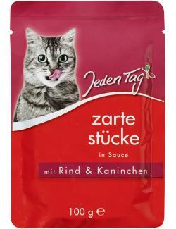 Jeden Tag Zarte Stücke in Sauce mit Rind & Kaninchen (100 g) - 4306180182106