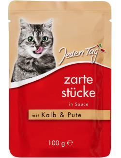 Jeden Tag Zarte Stücke in Sauce mit Kalb und Pute (100 g) - 4306180182014