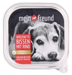 Mein Freund Hund Herzhafte Bissen Rind (300 g) - 4306188303411