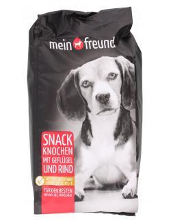 Mein Freund Hund Snack Knochen mit Geflügel und Rind