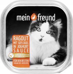 Mein Freund Katze Ragout mit Geflügel in Joghurt Sauce