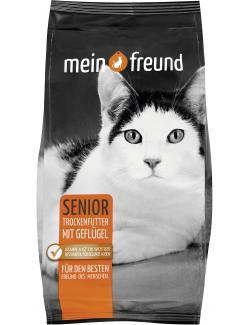Mein Freund Katze Senior Trockenfutter mit Geflügel (750 g) - 4306188305576