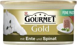 Gourmet Gold Feine Pastete mit Ente & Spinat (85 g) - 7613033523434