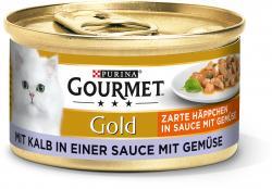 Gourmet Gold Zarte Häppchen in Sauce mit Gemüse mit Kalb