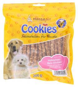 Hansepet Cookie's Hühnchen-Reis-Stickies (200 g) - 4037901114426