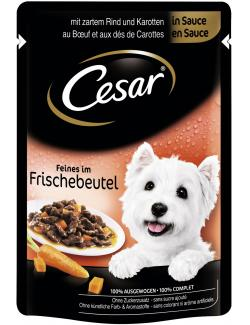 Cesar Feines im Frischebeutel Rind & Karotten in Sauce (100 g) - 5900951253492