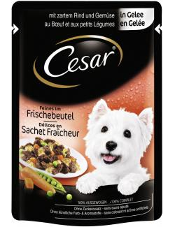 Cesar Feines im Frischebeutel Rind & Gemüse in Gelee (100 g) - 5900951253539