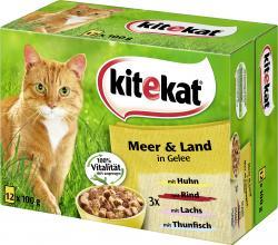 Kitekat Meer & Land in Gelee (12 x 100 g) - 4008429078590