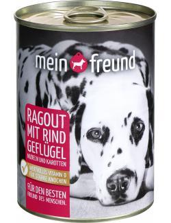Mein Freund Hund Ragout mit Rind und Geflügel (400 g) - 4306188349662