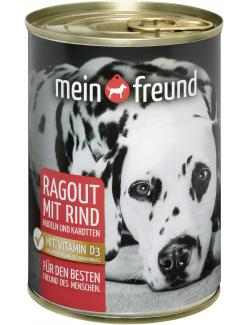 Mein Freund Hund Ragout mit Rind, Nudeln & Karotten
