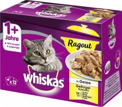 Whiskas 1+ Ragout in Gelee Geflügelauswahl (12 x 85 g) - 3065890133822