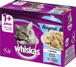 Whiskas Ragout in Gelee Fisch Auswahl (12 x 85 g) - 3065890133846