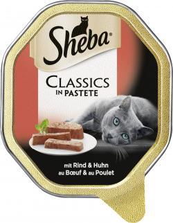 Sheba Classics in Pastete mit Rind und Huhn (85 g) - 4008429096075