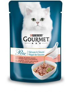Gourmet Perle Genuss in Sauce mit Lachs
