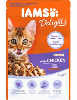Iams Katzenfutter Junior Huhn in Sauce