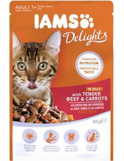 Iams Katzenfutter mit zartem Rind und Mohrrüben