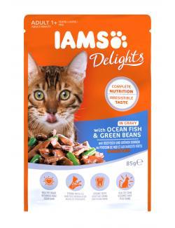 Iams Katzenfutter mit Seefisch und grünen Bohnen