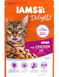 Iams Cat Senior mit Huhn in Sauce