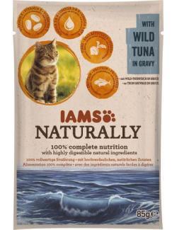 Iams Naturally Cat mit Wild-Thunfisch in Sauce