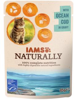 Iams Naturally Cat Kabeljau in Sauce