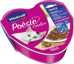 Vitakraft Poésie Sauce +Seelachs mit Pasta & Tomate