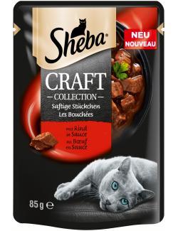Sheba Craft Collection Saftige Stückchen mit Rind in Sauce