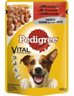 Pedigree Vital Protection mit Rind und Karotten in Pastete