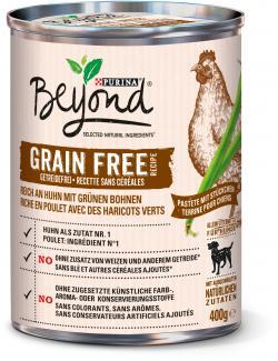 Beyond Dog Pastete reich an Huhn mit grünen Bohnen getreidefrei