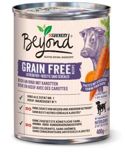 Beyond Dog Pastete reich an Rind mit Karotten getreidefrei