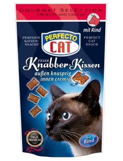 Perfecto Cat Feine Knabber Kissen mit Rind