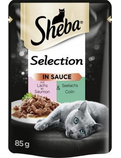 Sheba Selection in Sauce mit Lachs & Seelachs