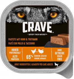 Crave Hund Pastete mit Huhn & Truthahn