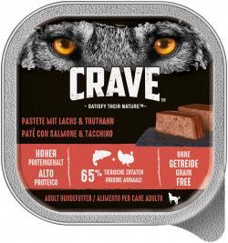 Crave Hund Pastete mit Lachs & Truthahn