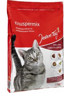 Jeden Tag Katze Knuspermix mit Rind, Lamm, Leber und Gemüse