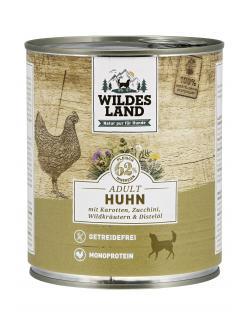 Wildes Land Hund Adult Huhn mit Karotten, Zucchini, Wildkräutern & Distelöl