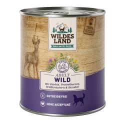 Wildes Land Hund Adult Wild mit Kürbis, Preiselbeeren, Wildkräutern & Distelöl