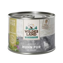 Wildes Land Katze Adult Huhn pur mit Distelöl