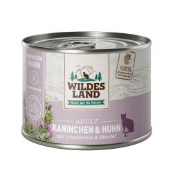Wildes Land Katze Adult Kaninchen und Huhn mit Cranberries & Distelöl
