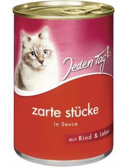 Jeden Tag Katze Zarte Stücke in Sauce mit Rind & Leber