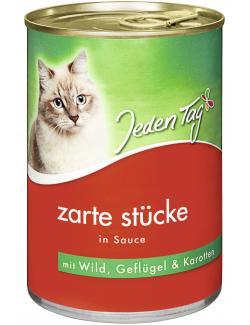 Jeden Tag Katze Zarte Stücke in Sauce mit Wild, Geflügel & Karotten