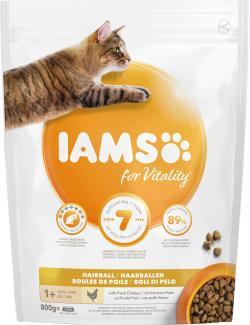 Iams for Vitality Cat Anti-Haarballen mit frischem Huhn
