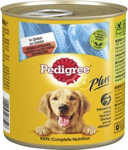 Pedigree Plus mit Rind und Fischöl in Gelee