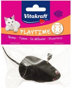Vitakraft Spielzeug für Katzen Aufzieh-Maus