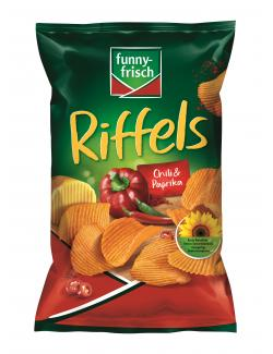 Funny-frisch Riffels Chili & Paprika (150 g) - 4003586000330