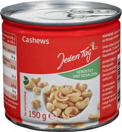 Jeden Tag Cashews geröstet & gesalzen