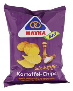 Mayka Bio Kartoffelchips Salz & Pfeffer  (70 g) - 4006748002654