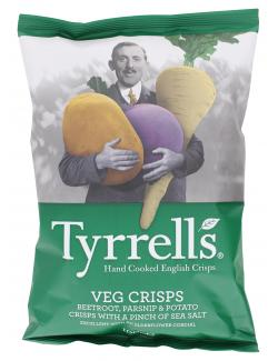 Tyrrells Veg Crisps Beetroot Parsnip & Potato (100 g) - 5060042646258